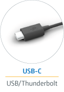 Real time via USB-C and Thunderbolt