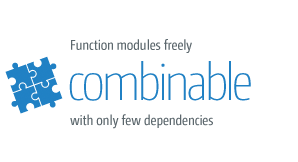 automotive in real time: combinable modules